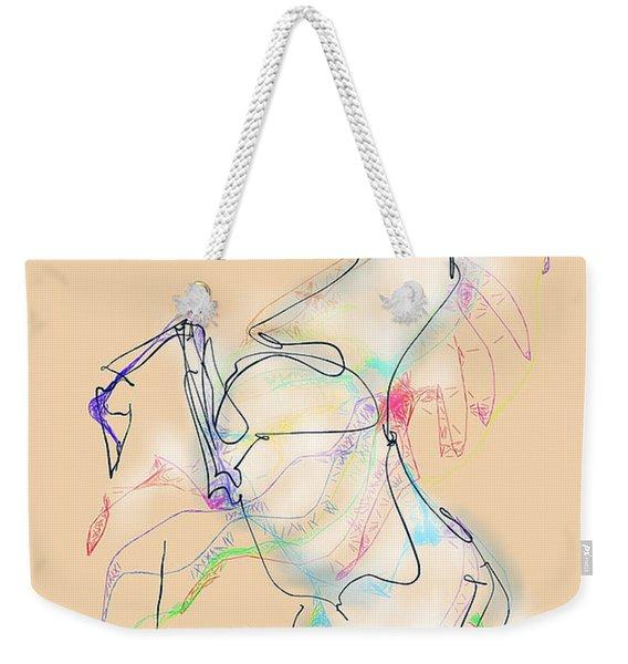 Ivory Horse Rising Weekender Tote Bag