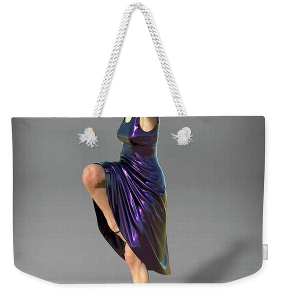 Jacinta In Navy Blue Weekender Tote Bag