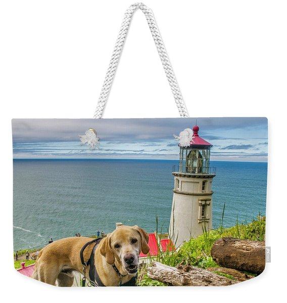 Jackson At Heceta Head Lighthouse Weekender Tote Bag