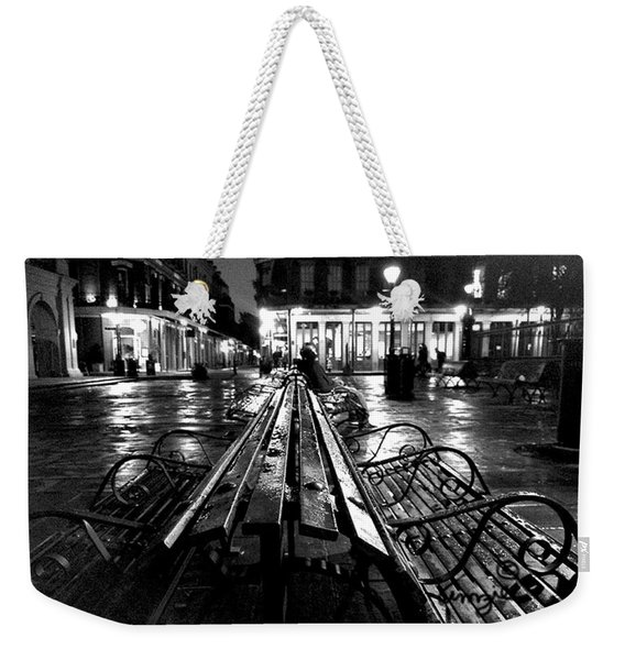 Jackson Square In The Rain Weekender Tote Bag