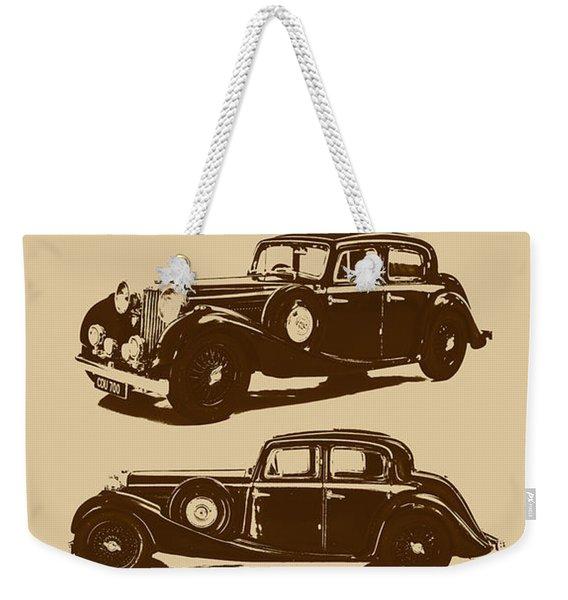 Jaguar Mark Iv Ss 2.5 Saloon Weekender Tote Bag