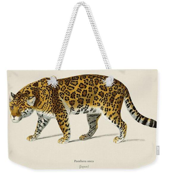 Jaguar  Panthera Onca  Illustrated By Charles Dessalines D' Orbigny  1806-1876  Weekender Tote Bag