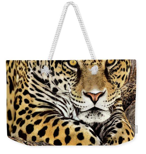 Jaguar Portrait Wildlife Rescue Weekender Tote Bag