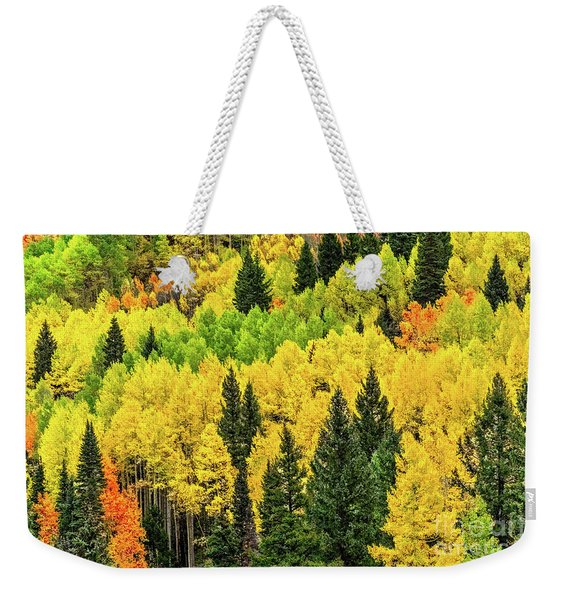 Jam-packed Hillside Weekender Tote Bag
