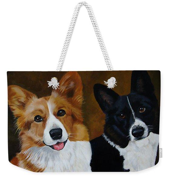 James And Joy Custom Portrait Painting Weekender Tote Bag