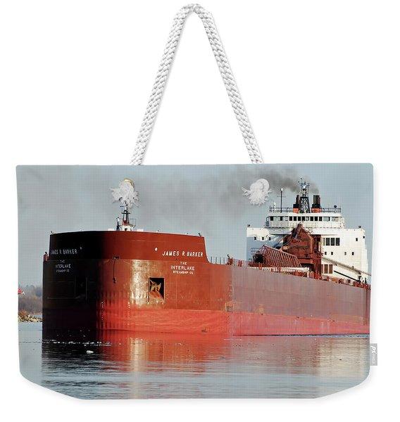 James R Barker Freighter Weekender Tote Bag