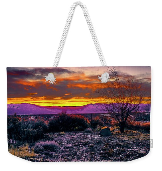 January Sunrise Weekender Tote Bag