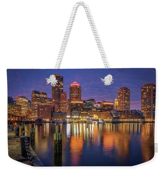 January Sunset At Fan Pier Weekender Tote Bag