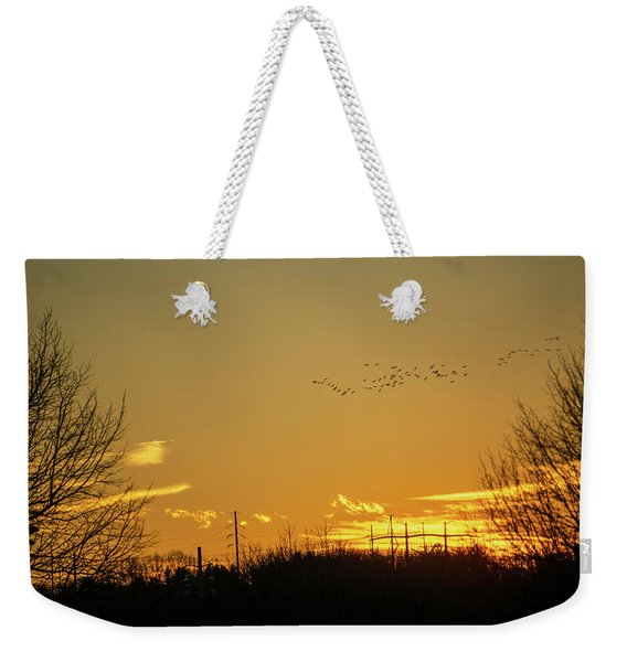 January Sunset - Lehigh Valley - Photography Weekender Tote Bag