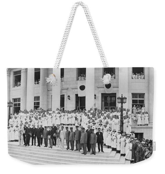 Japanese Red Cross, Red Cross Building Weekender Tote Bag
