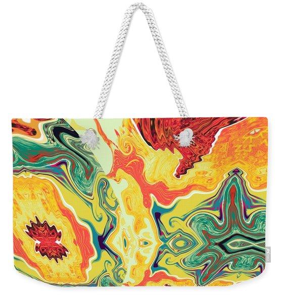 Weekender Tote Bag featuring the digital art Jar by A z Mami