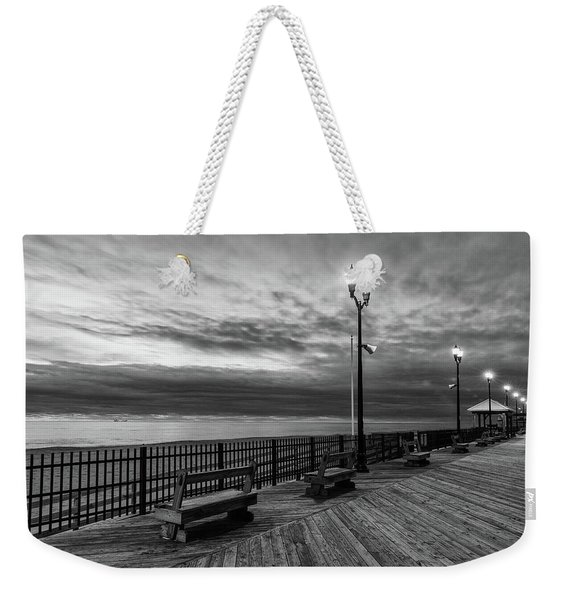 Jersey Shore In Winter Weekender Tote Bag