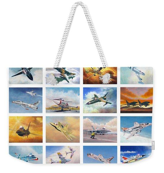 Jet Poster Weekender Tote Bag