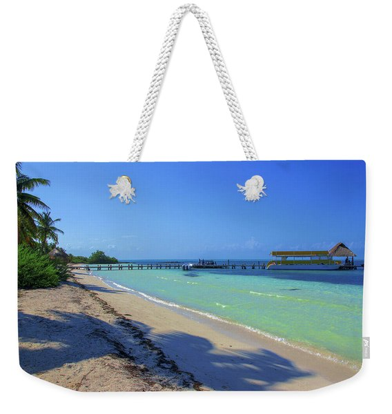 Jetty On Isla Contoy Weekender Tote Bag
