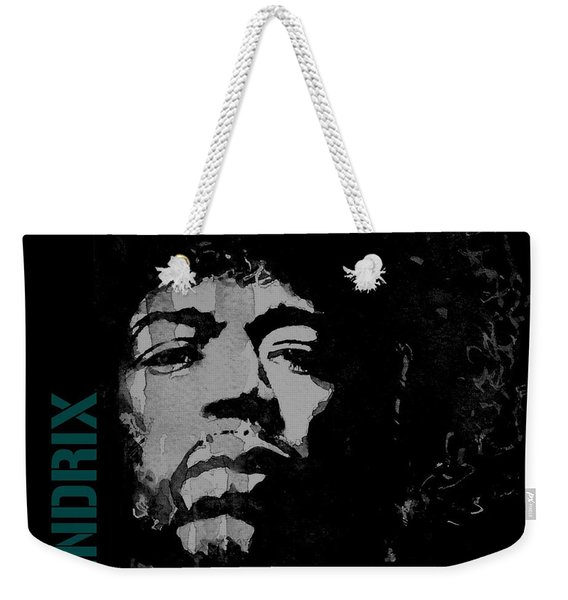 Jimi Hendrix - Retro Black  Weekender Tote Bag