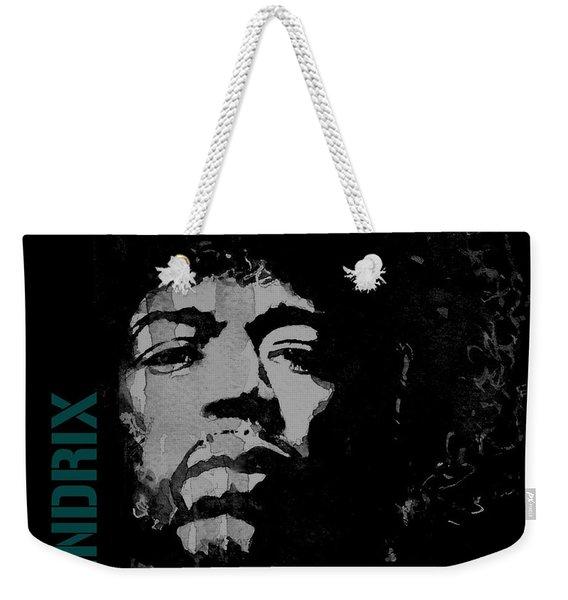 Jimi Hendrix - Retro Black  Weekender Tote Bag