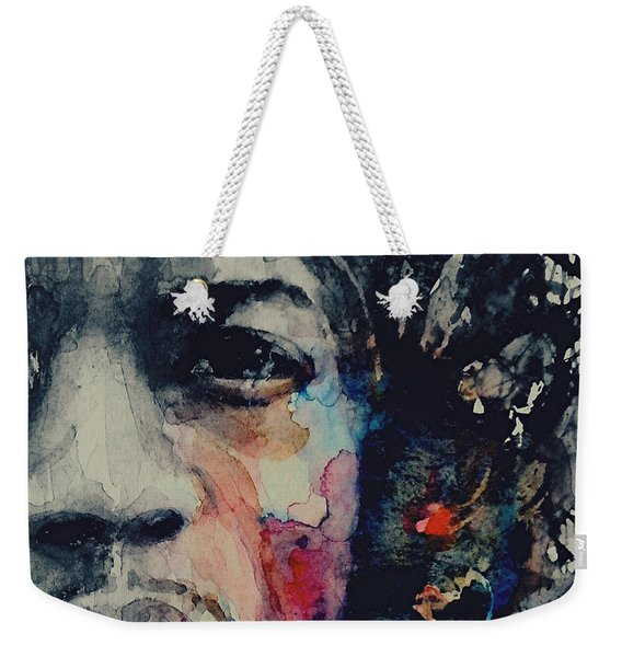 Jimi Hendrix - Somewhere A Queen Is Weeping Somewhere A King Has No Wife  Weekender Tote Bag