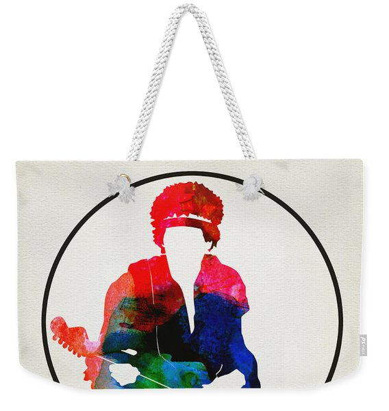 Jimi Hendrix Watercolor Weekender Tote Bag