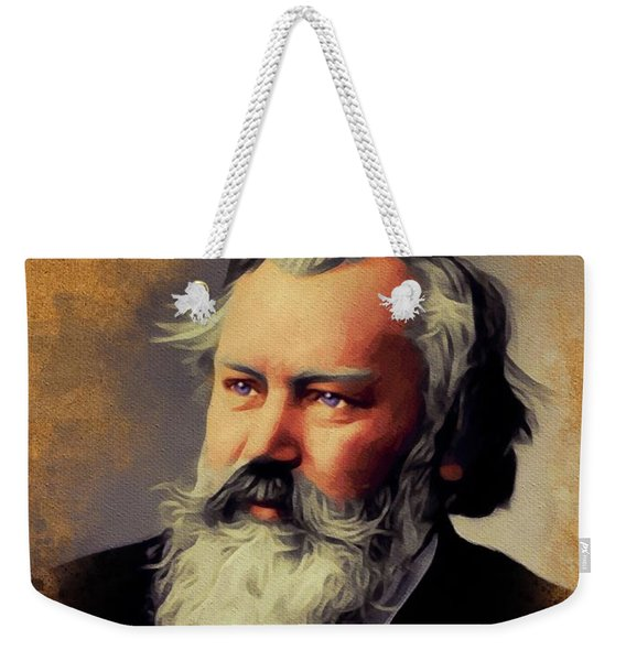 Johannes Brahms, Music Legend Weekender Tote Bag