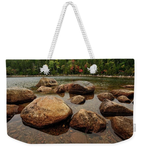 Jordon Pond Boulders Weekender Tote Bag