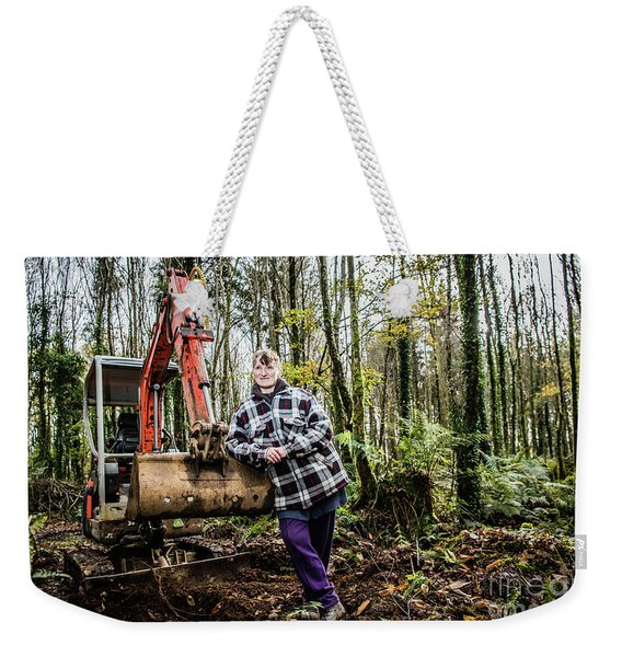 Julie Hillman - Female Gravedigger Weekender Tote Bag