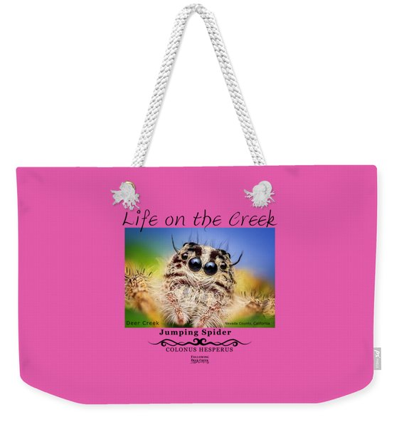Jumping Spider Colonus Hesperus Weekender Tote Bag