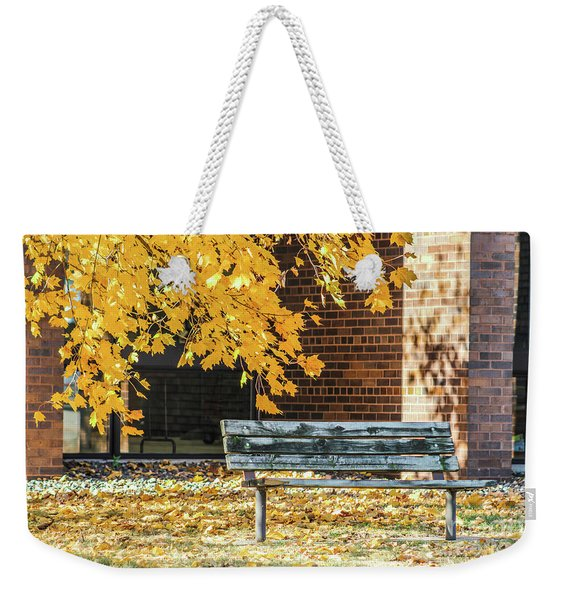Just A Bench Weekender Tote Bag
