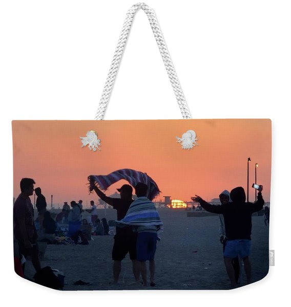 Weekender Tote Bag featuring the photograph Just Another California Sunset by Ron Cline
