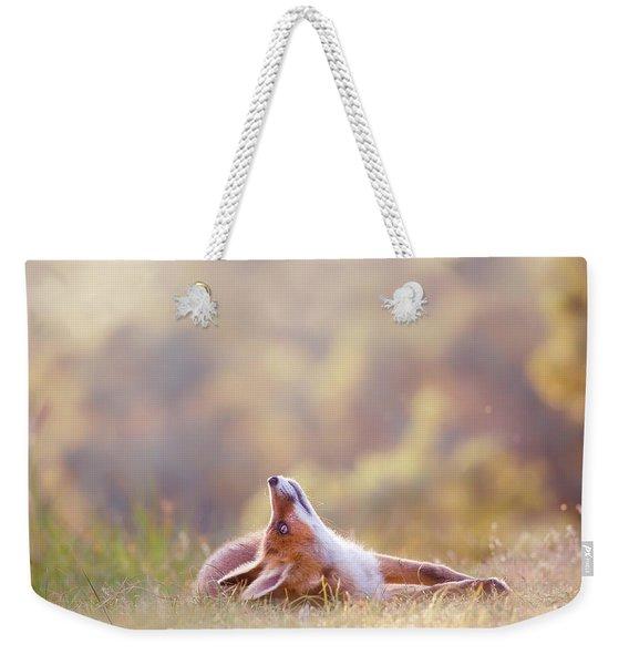 Just Happy - Happy Fox Is Happy Weekender Tote Bag