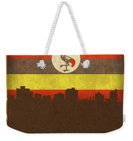 Kampala Uganda World City Flag Skyline Weekender Tote Bag