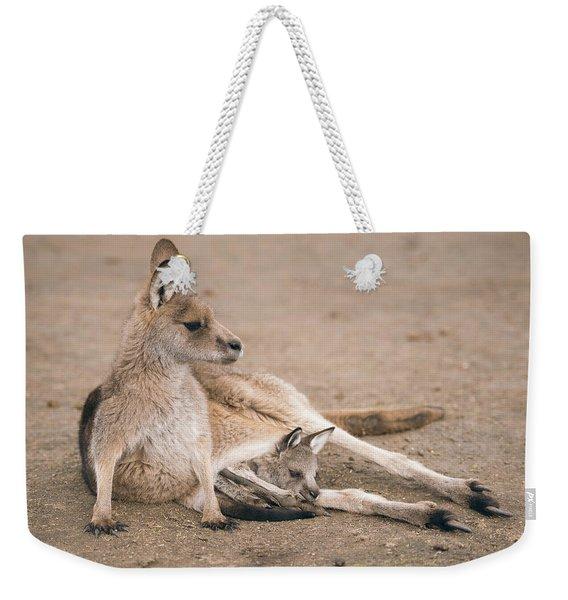Kangaroo Outside Weekender Tote Bag