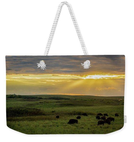 Kansas Flint Hills Sunset Weekender Tote Bag