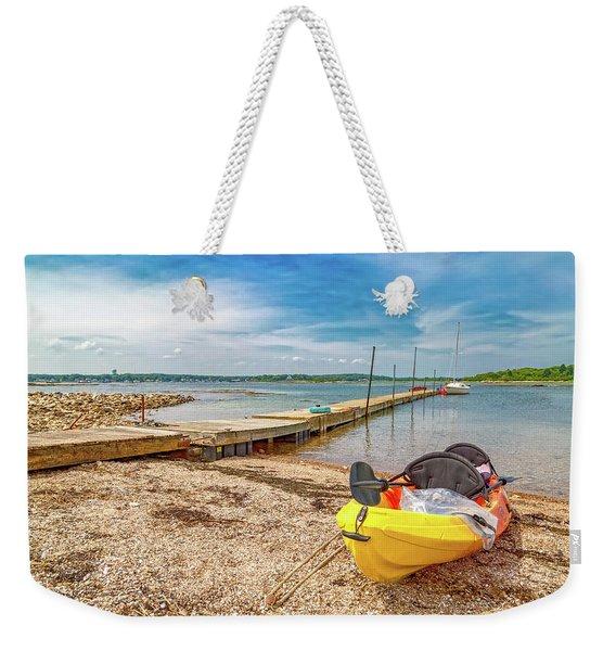 Kayaking To Goat Island Maine Weekender Tote Bag