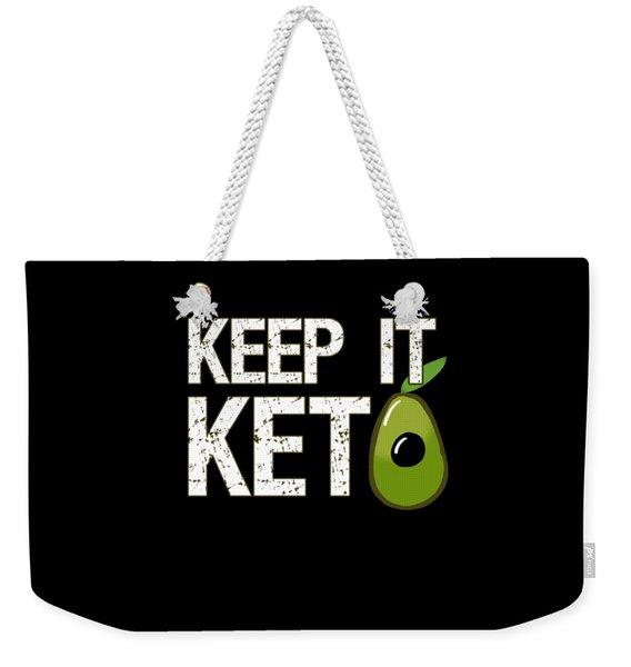 Keep It Keto Weekender Tote Bag