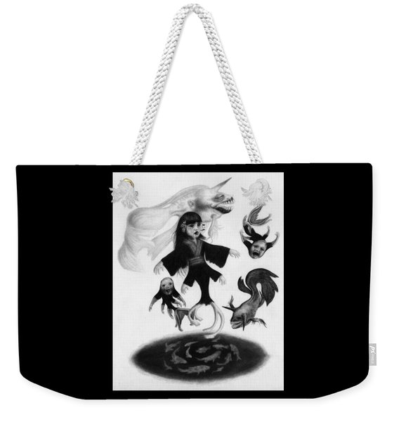 Keiko Among The Koi - Artwork Weekender Tote Bag