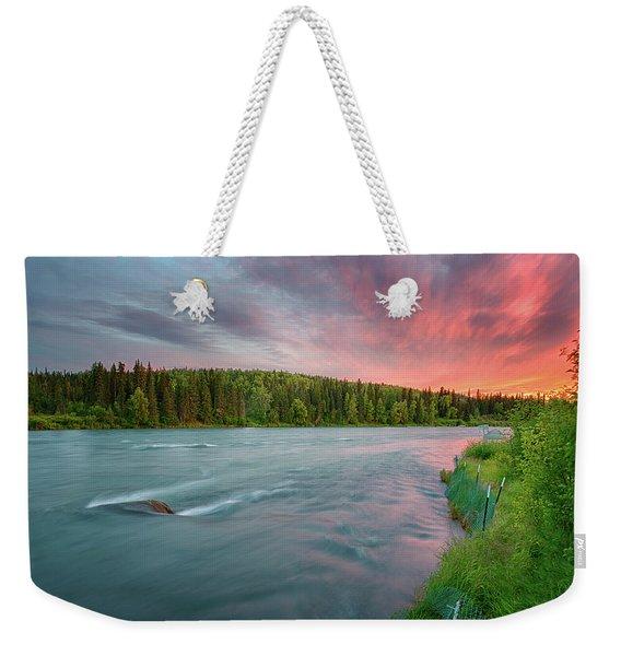 Kenai River Alaska Sunset Weekender Tote Bag