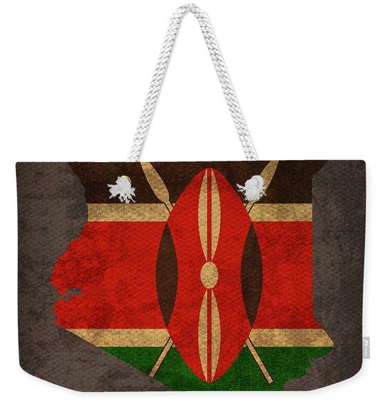 Kenya Country Flag Map Weekender Tote Bag