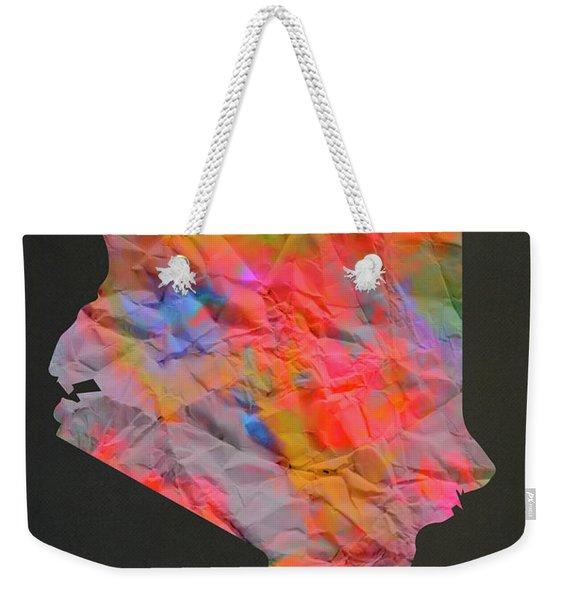 Kenya Tie Dye Country Map Weekender Tote Bag
