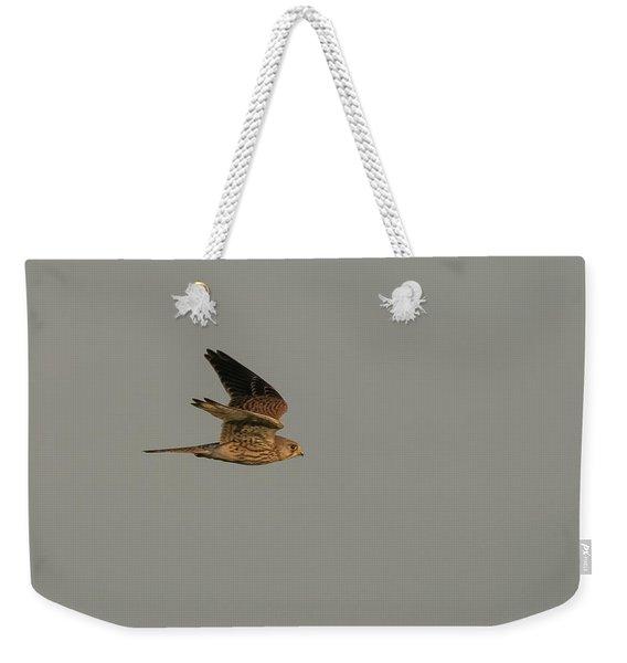 Kestrel Sundown Flyby Weekender Tote Bag