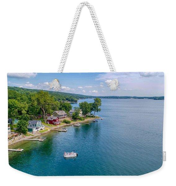 Keuka Boat Day Weekender Tote Bag