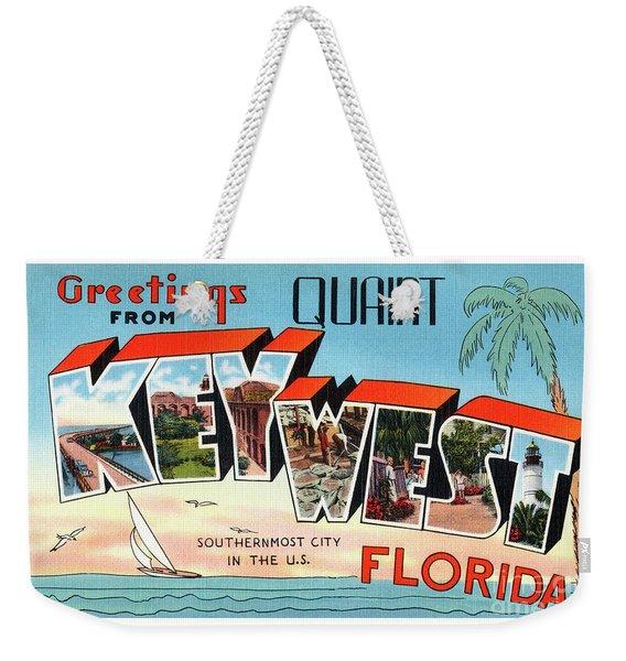 Key West Greetings Weekender Tote Bag