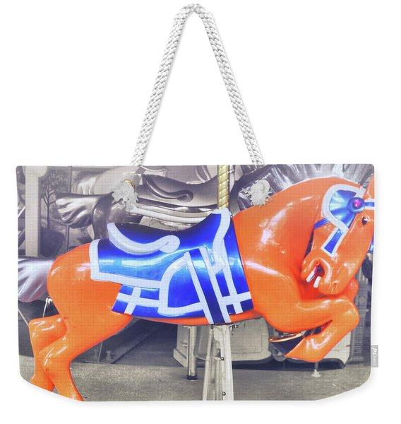 Kinder Orange Weekender Tote Bag