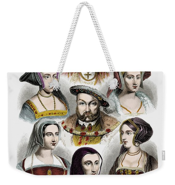 King Henry Viii Of England And His Six Wives Weekender Tote Bag