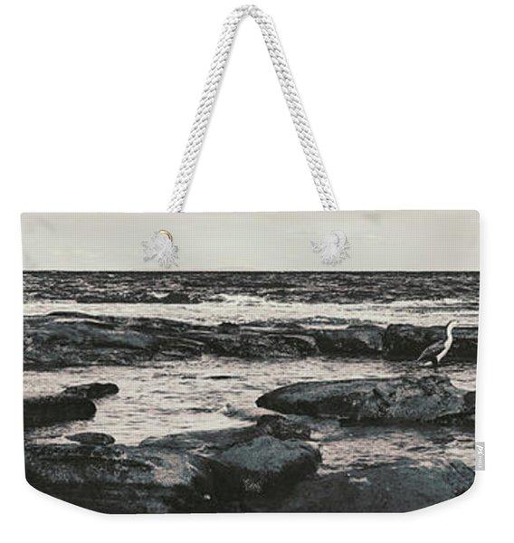Kings Beach Rocky Panoramic Weekender Tote Bag