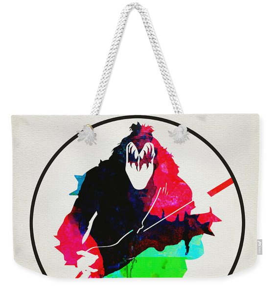 Kiss Watercolor Weekender Tote Bag