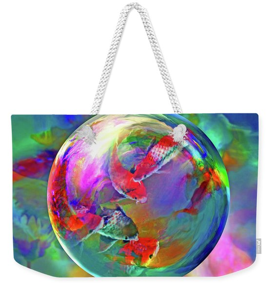Koi Pond In The Round Weekender Tote Bag