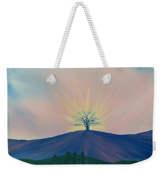 Weekender Tote Bag featuring the painting Komorebi by Kevin Daly