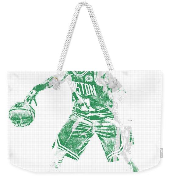 Kyrie Irving Boston Celtics Pixel Art 72 Weekender Tote Bag