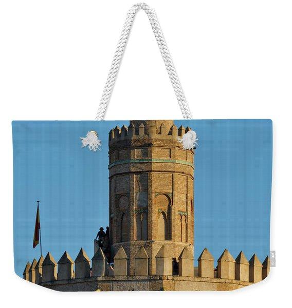 La Torre De Oro Detail. Seville Weekender Tote Bag