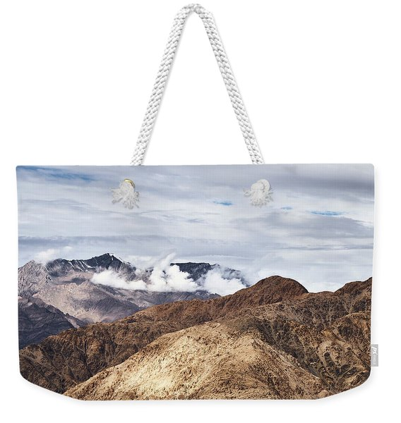 Weekender Tote Bag featuring the photograph Ladakh Peaks by Whitney Goodey